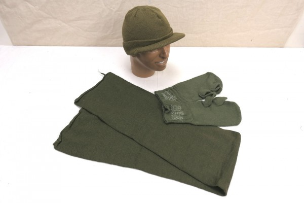 US ARMY Type WW2 Winter Set - Jeep cap - Scarf - Gloves Trigger Finger Glooves