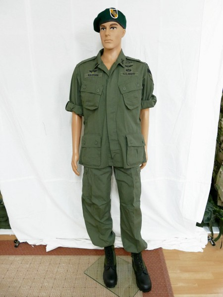 US Army Vietnam Jungle M 64 Uniform Lt. Colonel Bill Kilgore costume