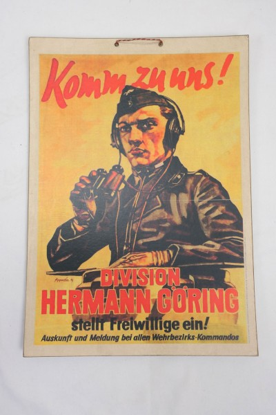 Picture Poster - Luftwaffe - Come to us - Division Hermann Göring