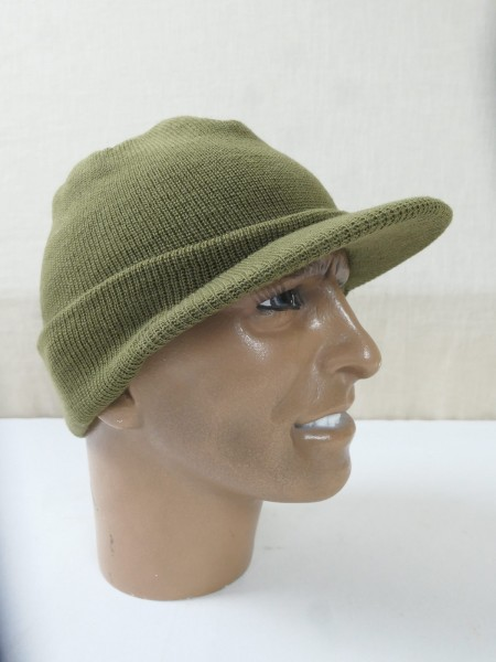 M-1941 Capwool Knit BEANIE CAP US ARMY WW2 knitted hat olive cap Jeep Driver