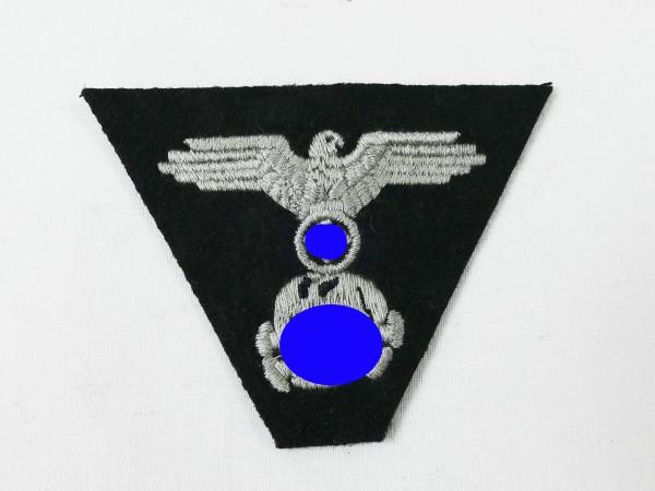 Waffen Elite Panzer Trapeze Cap Badge Eagle & Skull on black cloth for M43 field cap