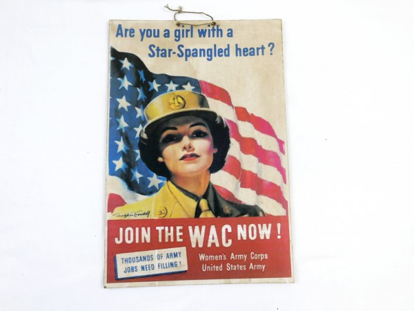 Advertising - picture poster poster women army recruiting / on heavy cardboard - cardboard (4183)