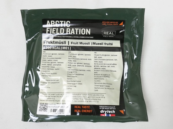 Original Norwegian ARCTIC Field Ration Army 1300 KCal Survival Food EPA Meal Drytech...with selection