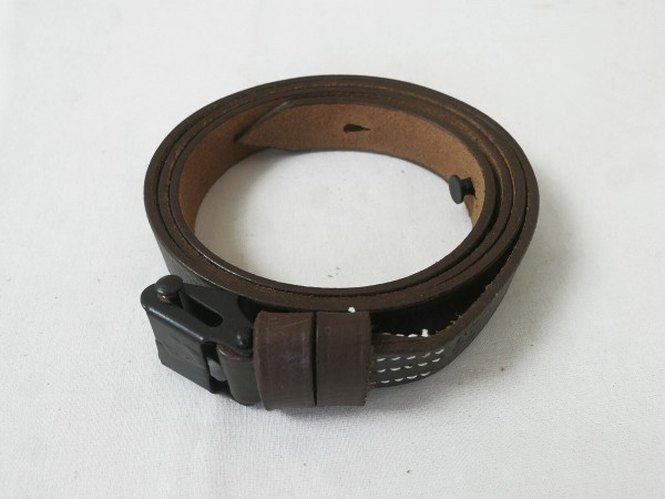 Wehrmacht MP40 MP38 belt SCHWARZ / leather carrying strap leather strap + rivet