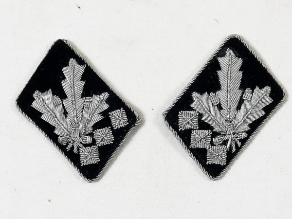 collar mirror weapons elite colonel group leader and colonel general hand-embroidered