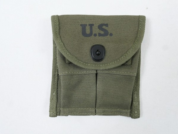 US ARMY WW2 M1 Carbine double magazine pouch for 2 magazines pistol belt loop
