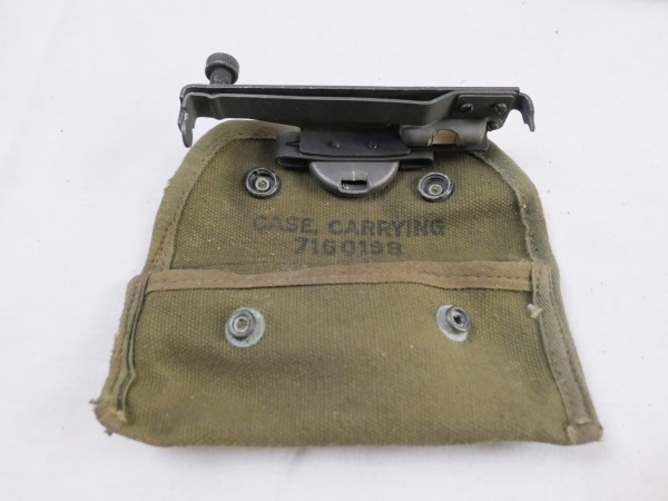 US ARMY TOOL M15 Garand M1 Rifle Sight Grenade Launcher Visor Attachment + Pouch Case Carrying