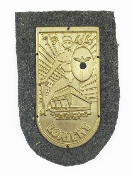 Wehrmacht sleeve badge Lorient 1944 gold