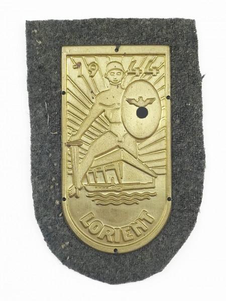 Wehrmacht sleeve badge Lorient 1944 gold