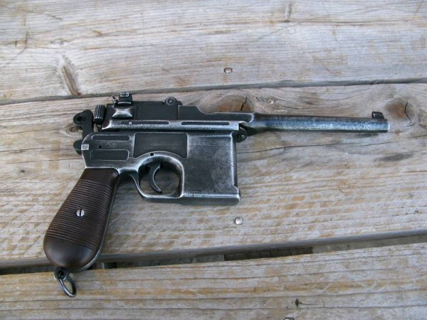 Pistol C96 antique deco model movie weapon