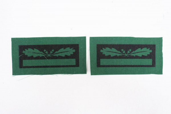 1x pair of WSS Untersturmführer rank insignia for camouflage uniforms and special clothing