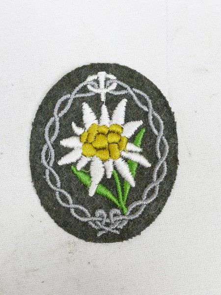 Original fabric badge field blouse mountain hunters Edelweiss embroidered sleeve badge
