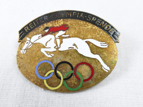 Olympiade Badge - Equestrian Olympia Donation 1936 - Brooch badge