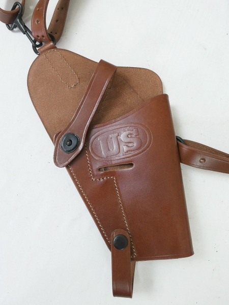 US Colt 45 Pistol Holster M7 Leather brown Leather Holster Goverment Shoulder Holster