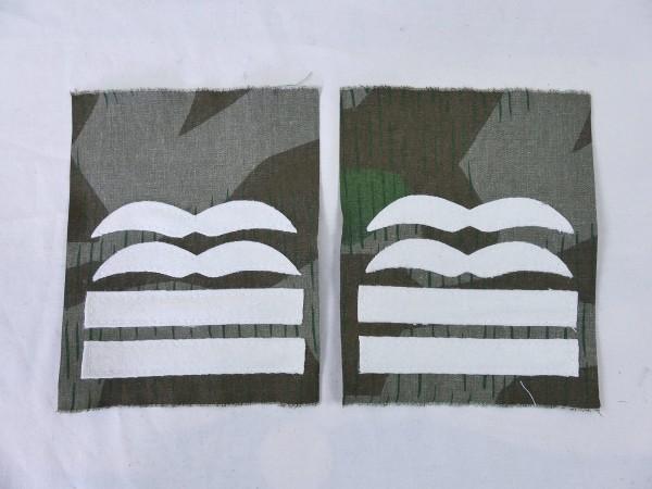Luftwaffe rank badge OBERSTLEUTNANT on camouflage material bone bag paratrooper