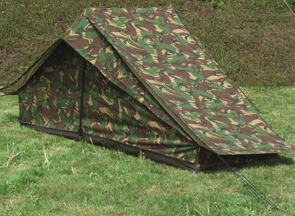 Dutch one-man tent, tent with floor, camouflage