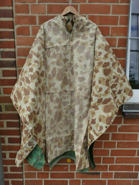 US WK2 Poncho pacific poncho duck hunter camouflage original stamped dated