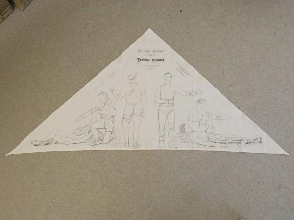 First World War triangular scarf / bandage scarf after Prof. Esmarch / First Aid