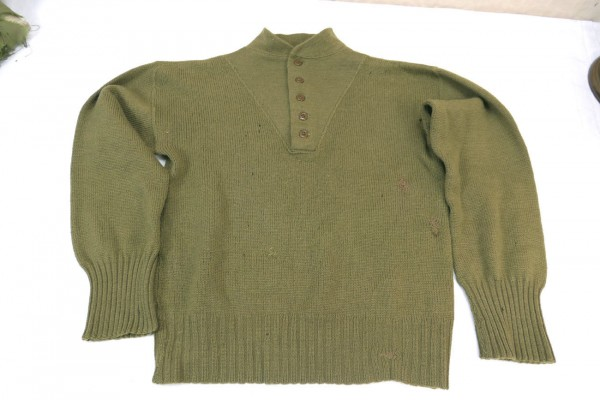 US Army WW2 Sweater High Neck Shirt Sweater Knitted Sweater 1944 Medium