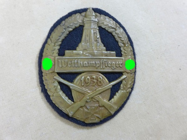 badge badge shield Reichskriegerbund competition winner 1938