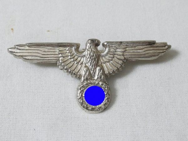 Badge Elite cap eagle WSS eagle silver plated on 2 split pins