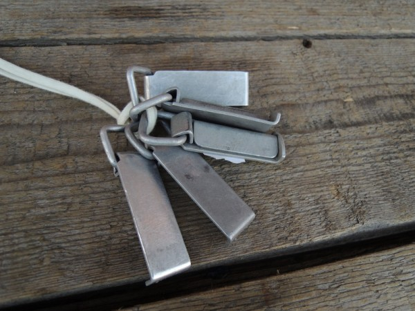 belt loop aluminium German Armed Forces belt carrying aid 70's
