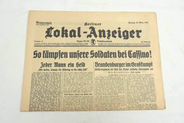 WK2 Complete daily newspaper - Berliner Lokal-Anzeiger 24.March 1944 - morning edition