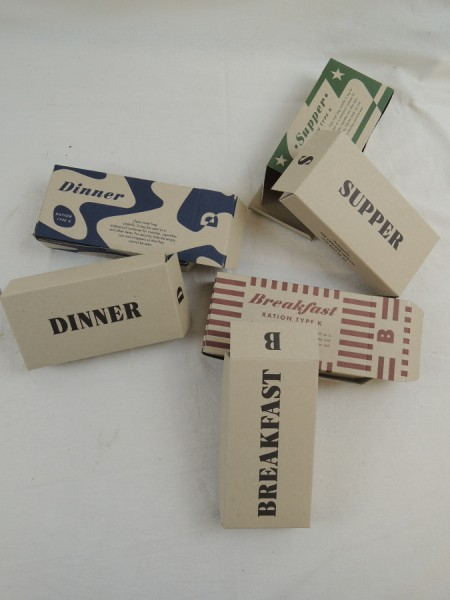 US ARMY WW2 Rations Type K Breakfast Supper Dinner Rations Box Box Carton Catering individual Ration