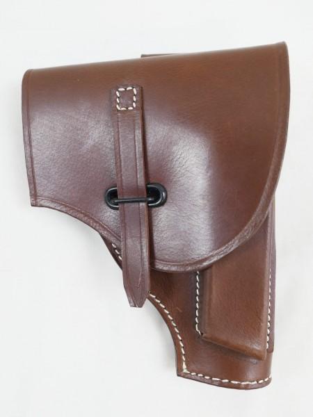 Baretta 34 Pistol Case Holster Leather Reproduction