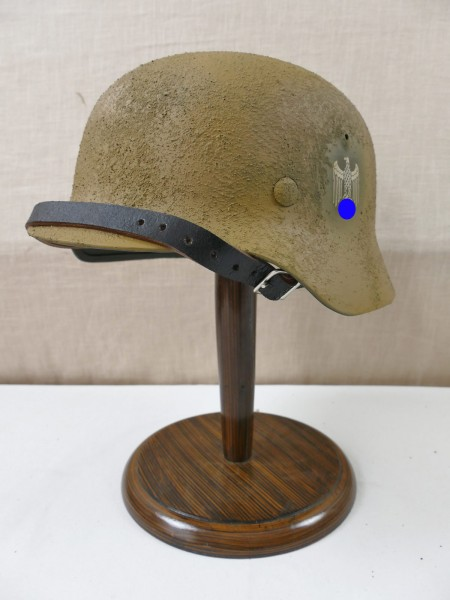 Wehrmacht Africa Corps Southern Front Camouflage Steel Helmet Tropical SD Rauhtarn M35 M40 M42 Gr. 57/58