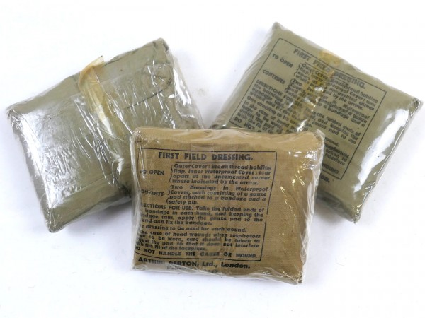 Original British Army First Aid Package FIELD DRESSING 1942