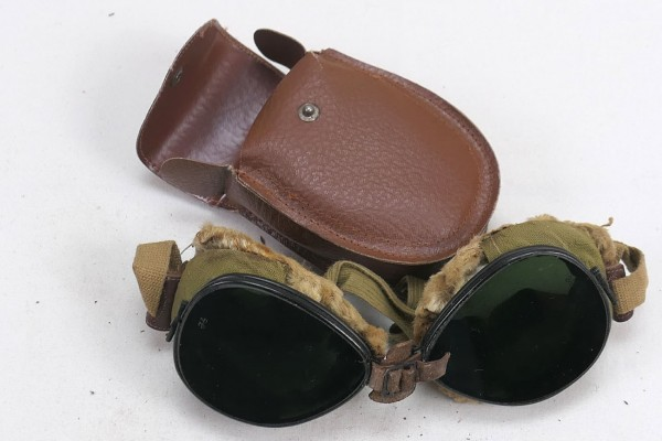 US ARMY WW2 Ski + Mountain Trooper Goggles - Mountain Trooper Goggles in Case #5