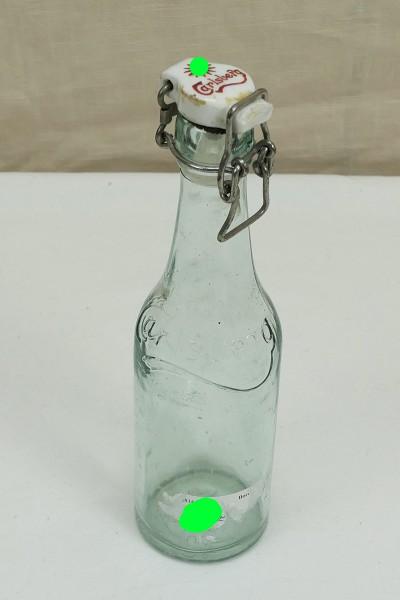#04 Carlsberg beer bottle glass bottle with sun wheel (HK) 1940