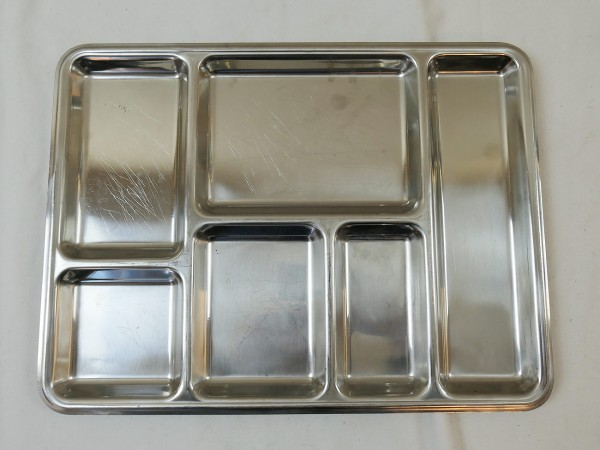 Army Mess tray food tray tray REPPEL MASSIF 18/8 original