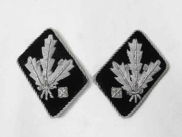 Waffen Elite pair collar tabs SS Gruppenführer and Generalleutnant