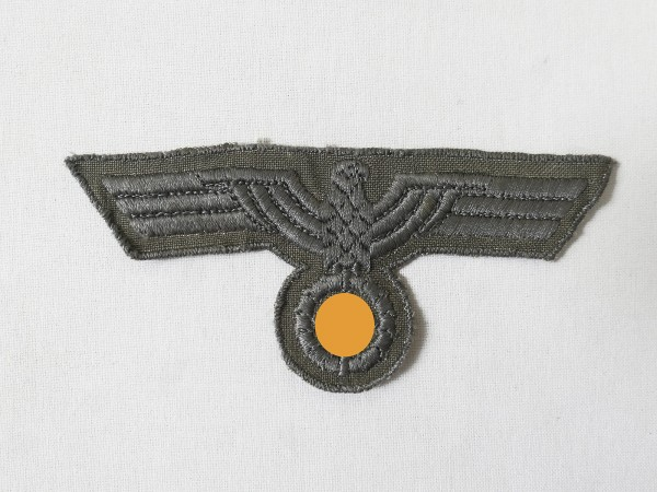 Wehrmacht Breast Eagle Teams embroidered for M40 Drillich / South front version original