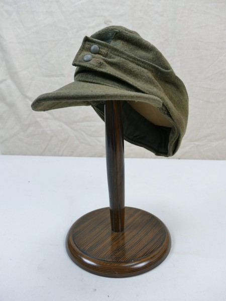 Wehrmacht M43 field cap Gr.58 bashlime cap M1943 original fabric 1944 with trapeze eagle from museum-