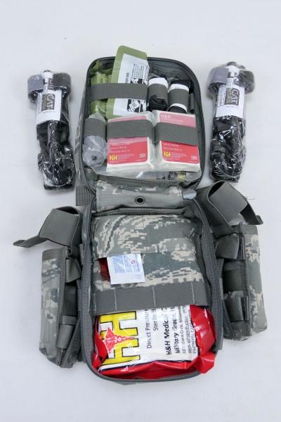 USAF JOINT FIRST AID KIT MEDIC IFAK + 2x Cat Tourniquet + 2x Quikclot Combat Gaze + Bags
