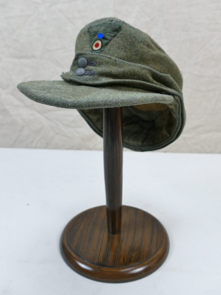 Wehrmacht M43 field cap Gr.58 bashlica cap M1943 original fabric with trapeze eagle from museum