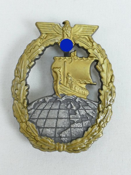 Kriegsmarine Auxiliary Cruiser War Badge Navy