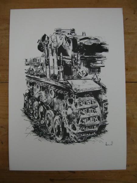 WH Art Print Panzerkampfwagen