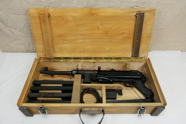 WK2 Wehrmacht MP38 MP40 transport box wooden box machine pistol weapon transport box