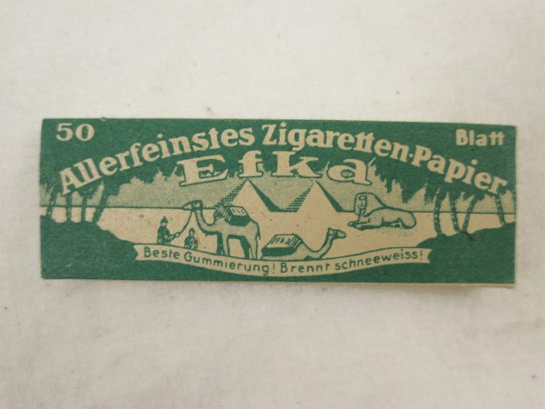 Wehrmacht Cigarettes Paper Efka 50 sheets of turning paper