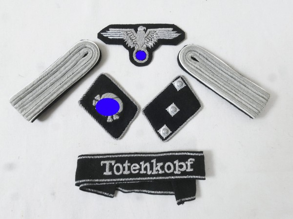 WSS Set Effects Badges Weapons Elite Sleeve Ribbon Skull Collar tabs for Untersturmführer