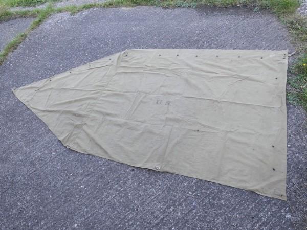 US Army tent shelter tent tarpaulin 1942 Original tent shelter half