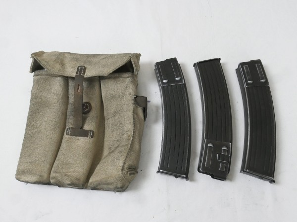 Wehrmacht STGW assault rifle MP 44 magazine pouch + 3x DENIX magazine StGw44