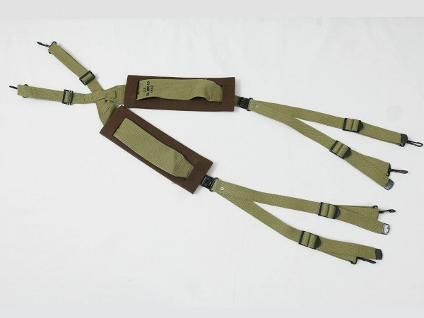 US ARMY WW2 M36 SUSPENDERS + 2 Shoulder Pads padded + shoulder pads