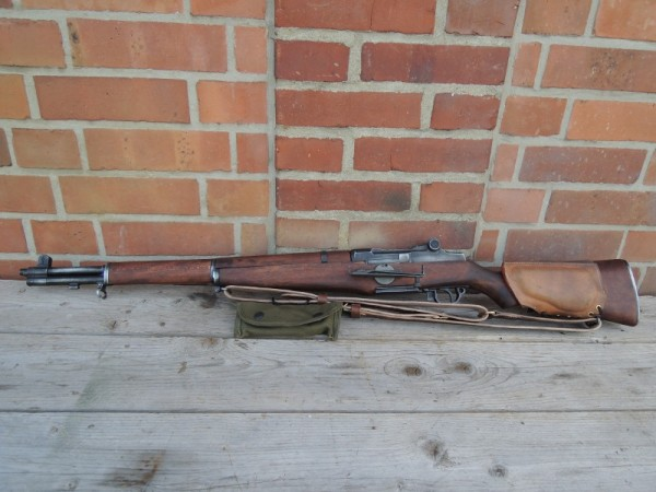 US Army M1 Garand Rifle Springfield Armory Movie Weapon + Cheek Pad + Sight Rifle Grenade Machine