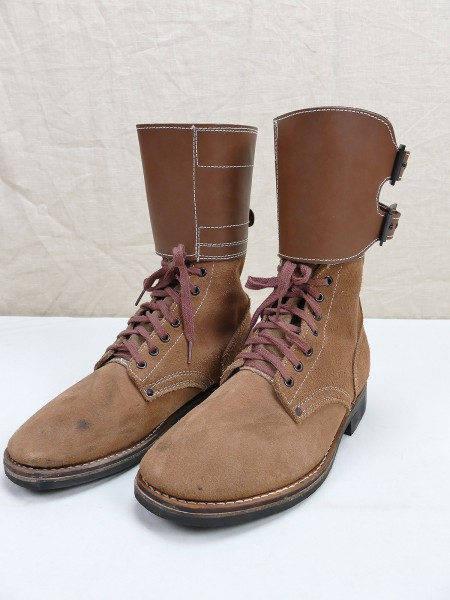 Vintage US ARMY WW2 M-1943 Combat Boots Buckle Boots M43 Leather Boots