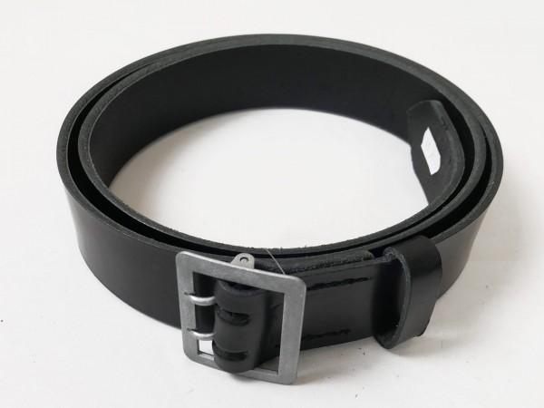 Wehrmacht belt black leather belt two spine belt officer 45mm width new